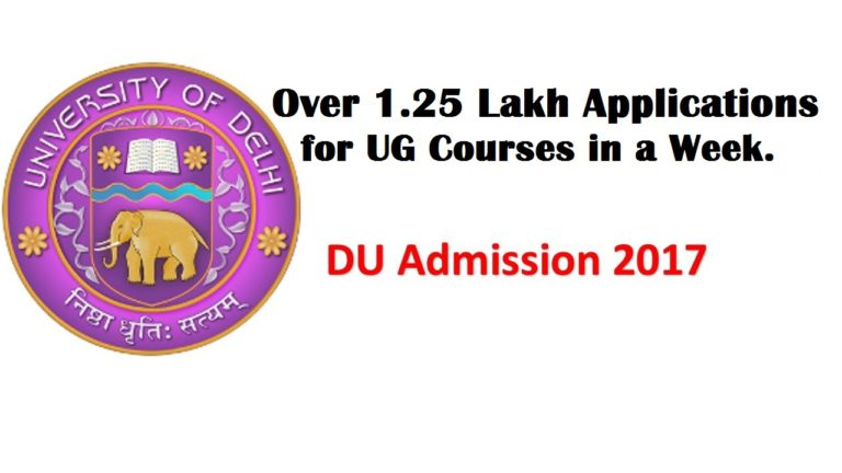DU Admission 2017: Over 1.25 Lakh Applications for UG Courses in a Week