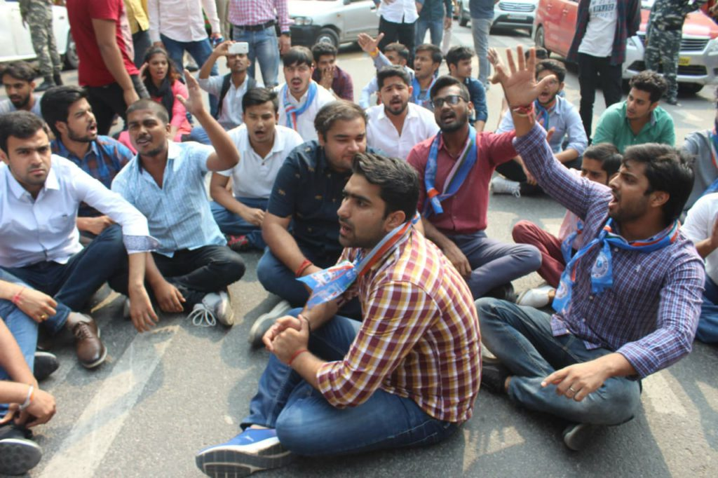 NSUI demanding Re-elections in DUSU