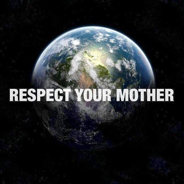 Think about mother earth on this mother's day!