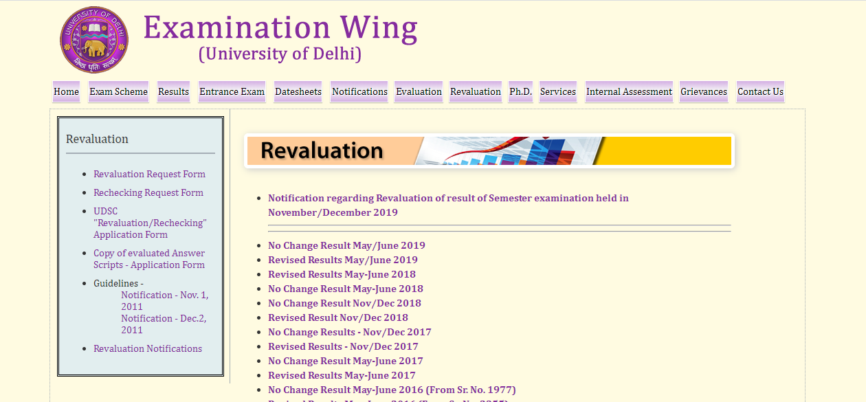 DU Reopens application for revaluation